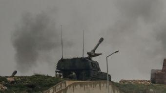 Kilis'te konuşulu bulunan Fırtına obüs topları, Afrin'nin Şeyh Pınar bölgesindeki PKK/PYD terör örgü