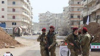 Zeytin Dalı Harekatı kapsamında terör örgütü YPG/PKK´dan temizlenen Afrin ilçe merkezindeki 4 katlı