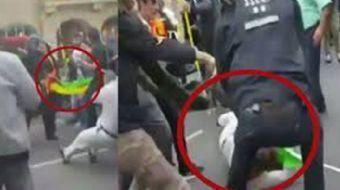 Berlin'de terör propagandası yapan örgüt sempatizanları Alman polisiyle karşı karşıya geldiğine pişm