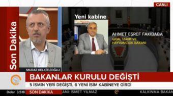 Akşam Gazetesi Genel Yayın Yönetmeni Murat Kelkitlioğlu, kabine değişikliğini değerlendirdi. Yapılan
