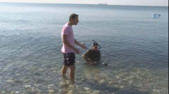 Beylikdüzü Gürpınar Sahilde zıpkınla dalış yapan iki arkadaştan biri uzun süre sudan çıkmayınca poli