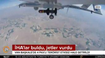 Van Başkale'de 4 PKK'lı terörist etkisiz hale getirildi