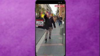 """Fransız Kadın PKK'lılara Böyle Haykırdı: """"Ne Mutlu Türk'üm Diyene…"""" #AkşamStory"""
