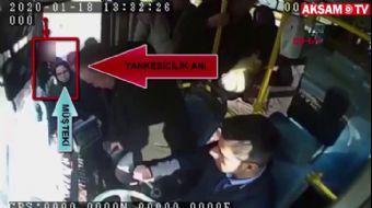 Otobüse Binme Kuyruğunda Önündeki Kadının Telefonunu Böyle Çaldı