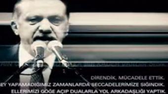 Cumhurbaşkanı Recep Tayyip Erdoğan'ın kürsüde okuduğu şiir sosyal medyada paylaşım rekoru kırdı