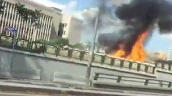 Ankara Adliye sarayı önünde doğal gaz patlaması meydana geldi.
