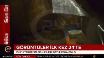 Terör örgütü PKK'ya yönelik yürütülen operasyonda, örgüt mensuplarınca 3'ü kış üslenmesinde kullanıl
