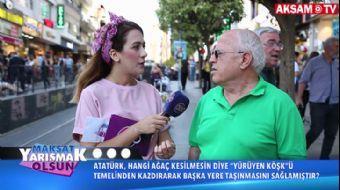 Atatürk, Hangi Ağaç Kesilmesin Diye 'Yürüyen Köşk'ü Başka Yere Taşıtmıştır? | #MaksatYarışmakOlsun