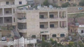 Terör örgütü PKK´lı ve PYD´li sözde yöneticilerin Afrin yolu üzerinde stratejik bir noktada bulunan