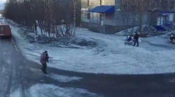 Rusya'nın Murmansk bölgesindeki Kovdor kasabasında evsiz bir adamın insansız hava aracını UFO sanıp
