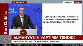 Cumhurbaşkanı Erdoğan, 'Alman ekonomi bakanının hiçbir mesnede dayanmadan, dolaylı mesajlarla ülkemi