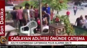 Çağlayan'da bulunan İstanbul Adalet Sarayı'nın önünde silah sesleri duyuldu. 1 kişi yaralandı, polis