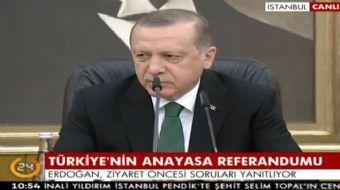 Cumhurbaşkanı Recep Tayyip Erdoğan, erken seçim ve anayasa çalışmalarıyla ilgili olarak, 'Tabi bu sü