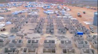 İHH, İdlib'de Briket Ev İnşasına Başladı