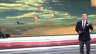 TGRT Haber kanalı EL Bab operasyonunu 3 boyut destekliaktarırken ilkginç görüntülere sahne oldu