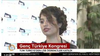 Türkiye'nin dört bir yanından gençlerin katıldığı dev çalıştay olan Genç Türkiye Kongresi'nde tüm sü
