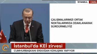 İstanbul Karadeniz Ekonomik İşbirliği Teşkilatının (KEİ) 25. Kuruluş Yıldönümü Zirvesinde konuşan Cu