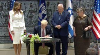 ABD Başkanı Donald Trump, İsrail Cumhurbaşkanı Reuven Rivlin ile bir araya geldi.  ABD Başkanı Dona