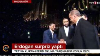 Cumhurbaşkanı Recep Tayyip Erdoğan, TRT 1 kanalında yayınlanan 'Kur'an-ı Kerim'i Güzel Okuma Yarışma