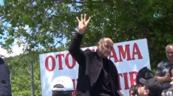 CHP Genel Başkanı Kemal Kılıçdaroğlu, adalet yürüyüşünün 8. Gününde Bolu'nun Gerede ilçesinde vatand