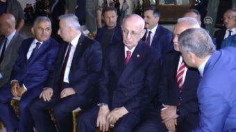 TBMM Başkanı İsmail Kahraman, AK Parti Grup Başkanvekili Mustafa Elitaş'ın danışmanı Mustafa Öz'ün k