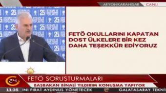 Ba�bakan Y�ld�r�m: Ter�r �rg�t� b�lge halk� �zerinde kurdu�u korku �emberini k�r�yoruz.