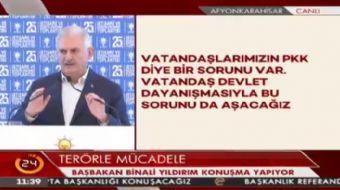 Ba�bakan Y�ld�r�m: FET� ter�r �rg�t�n�n hi�bir mensubu AK Parti i�inde yer almad�.