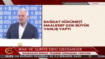 Ba�bakan Y�ld�r�m: Ba�ika kamp�m�zda ki askerlerimizin g�revi ter�re kar�� sivilleri haz�r hale geti