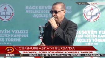Cumhurba�kan� Recep Tayyip Erdo�an, Bursa'da a��l�� t�reninde konu�tu.