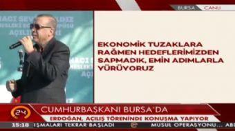 Cumhurba�kan� Erdo�an: T�rkiye'de 3 milyon m�lteci var. Biz kimseye kap�m�z� kapatmad�k.