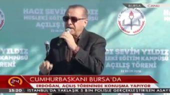 Cumhurba�kan� Erdo�an: Vatan�m�z�n �zerinde kimse operasyon d���nmesin.