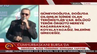 Cumhurba�kan� Erdo�an: Bize demokrasi dersi verenler d�r�st de�il.