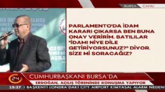 Cumhurba�kan� Erdo�an: Ben 'Misak-� Milli' dedim diye neden rahats�z oluyorsunuz?