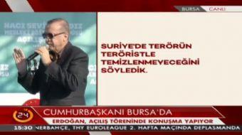 Cumhurba�kan� Erdo�an: Musul'da hem masada hem de operasyonda olma kararl�l���m�z devam edecek.