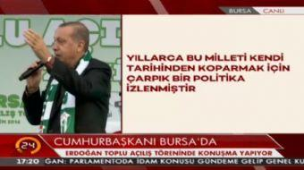 Cumhurba�kan� Erdo�an: Bu topraklara T�rkiye ad�n� veren Anadolu Sel�uklular�d�r.