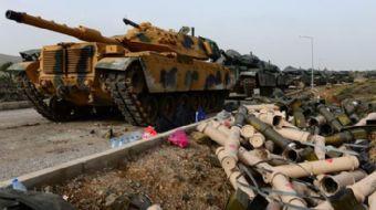 Türk Silahlı Kuvvetleri´nin Suriye´nin Afrin kentinin kontrolüne elinde tutan terör örgütleri  PYD-Y