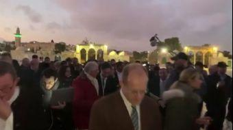 Macron, Mescid-i Aksa'yı Ziyaret Etti