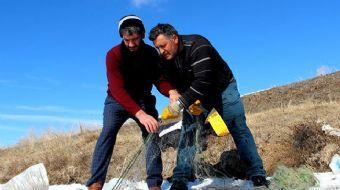 Donan Gölette Eskimo Usulüyle Balık Avladılar
