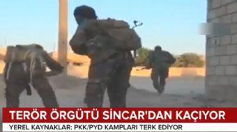 Terör örgütü PKK/YPG Sincar´dan kaçıyor