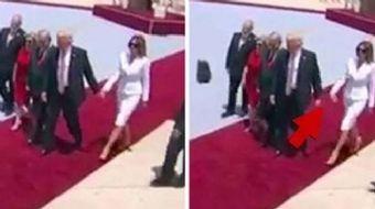 İsrail'de bulunan ABD Başkanı Donald Trump'a eşi Melania Trump'tan ilginç bir tepki geldi. Başkan Tr