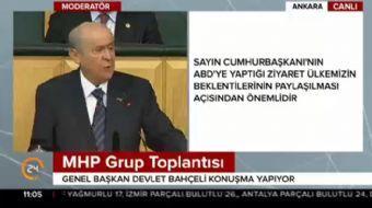 Partisinin grup toplantısında konuşan MHP lideri Devlet Bahçeli gündeme ilişkin çarpıcı açıklamalard