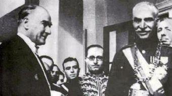 1934 yılına ait olan video İran Şahı Rıza Pehlevi ve Mustafa Kemal Atatürk'ün Türkiye'yi ziyareti sı