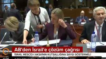 Avrupa Birliği (AB), İsrail'in Mescid-i Aksa'nın kutsallığına saygı göstermesi gerektiğini belirtere