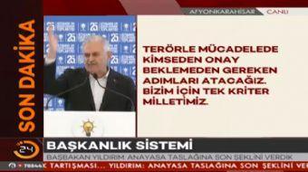 Ba�bakan Binali Y�ld�r�m, AK Parti �sti�are Toplant�s�nda konu�tu.