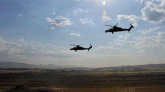 Afrin´de ATAK helikopterimiz teröristlerin inlerini yerle bir etti