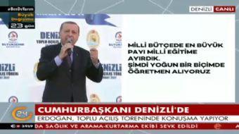 Denizli'de halka seslenen Cumhurbaşkanı Recep Tayyip Erdoğan önemli açıklamalarda bulundu