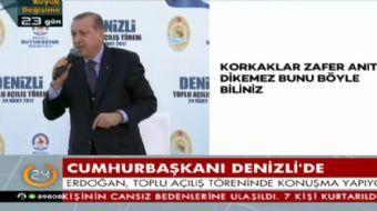 Denizli'de halka seslenen Cumhurbaşkanı Recep Tayyip Erdoğan Batı'ya yüklendi ve önemli açıklamalard