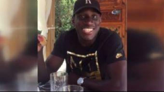 Yıldız oyuncu Demba Ba, sosyal medya hesabından Eskişehirspor tezahüratı yaptığı bir video yayınladı