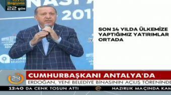 Antalya'da halka seslenen Cumhurbaşkanı Recep Tayyip Erdoğan önemli açıklamalarda bulundu