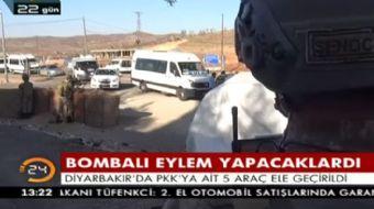 Terör örgütü PKK'nın bombalı eylem hazırlığındayken kullanacağı 1 otomobil ile 4 motosiklet ele geçi